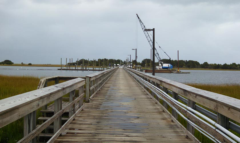Smith-Rowe | Marine Construction | UNCW Pier Upgrade